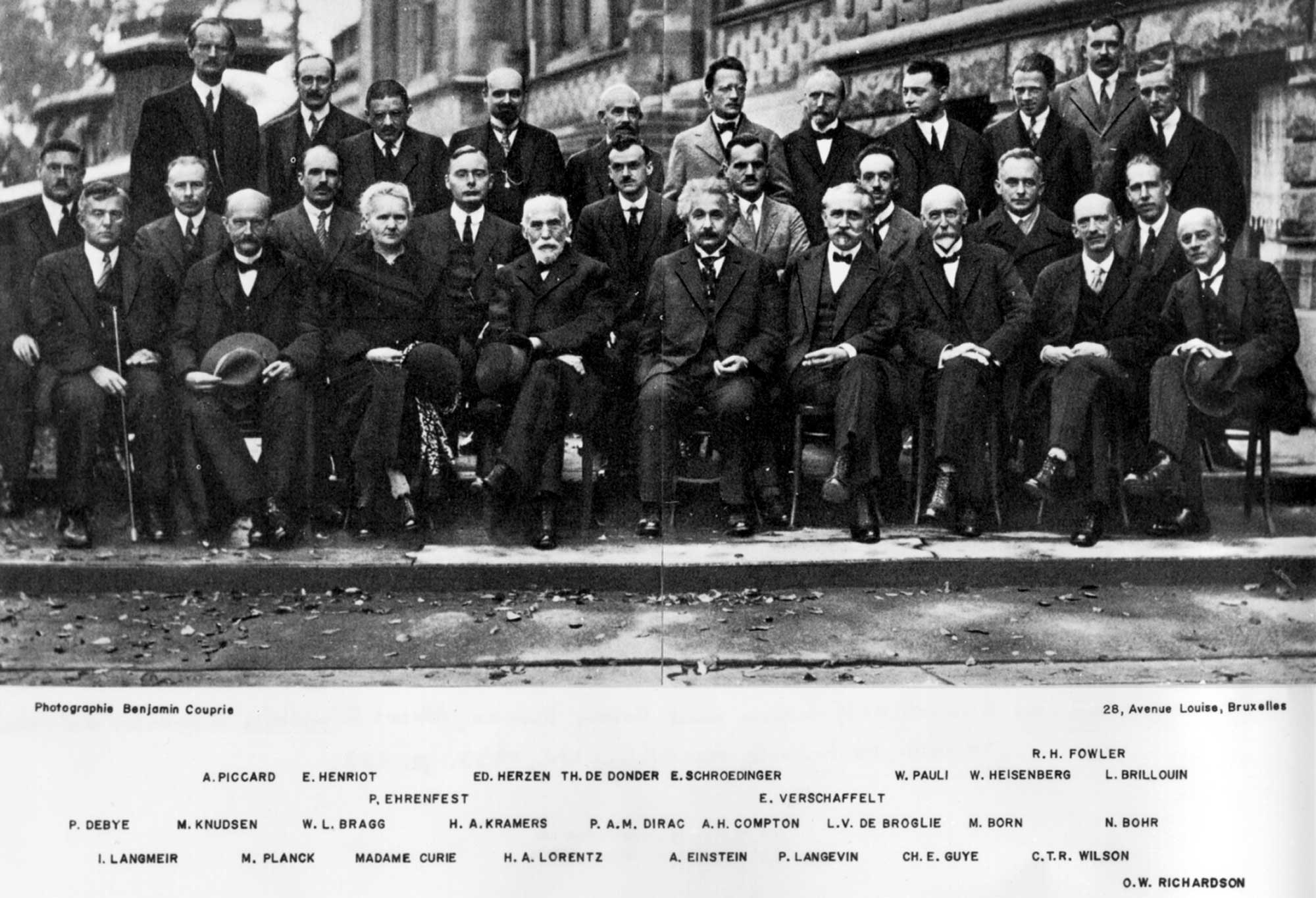 The smartest and famous group of individuals from 1927 Solvay conference